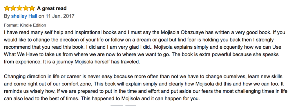 Testimonials for Use What You Have by Mojisola Obazuaye Image