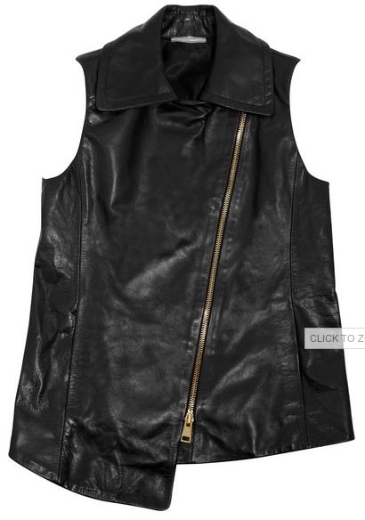 Vest design leather jacket