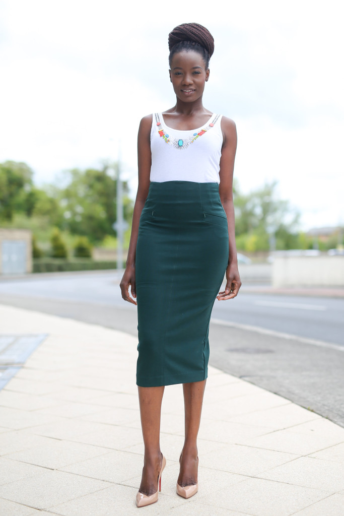 BEADED BLOUSE & FULL CIRCLE FITTED SKIRT