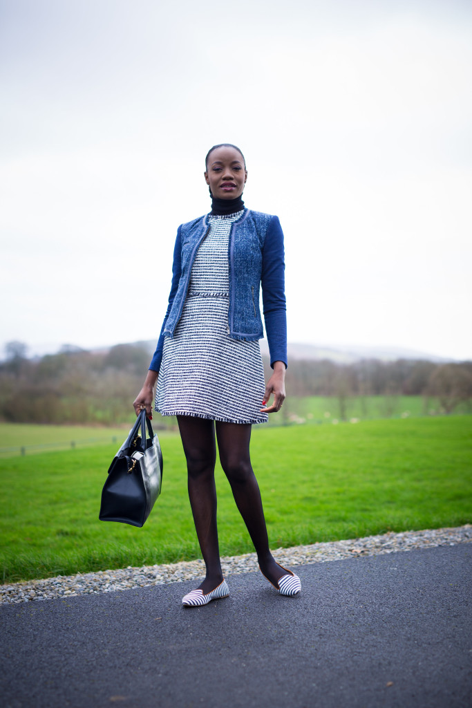 TWEED_MINI_AND_HIGH_NECK_BLOUSE