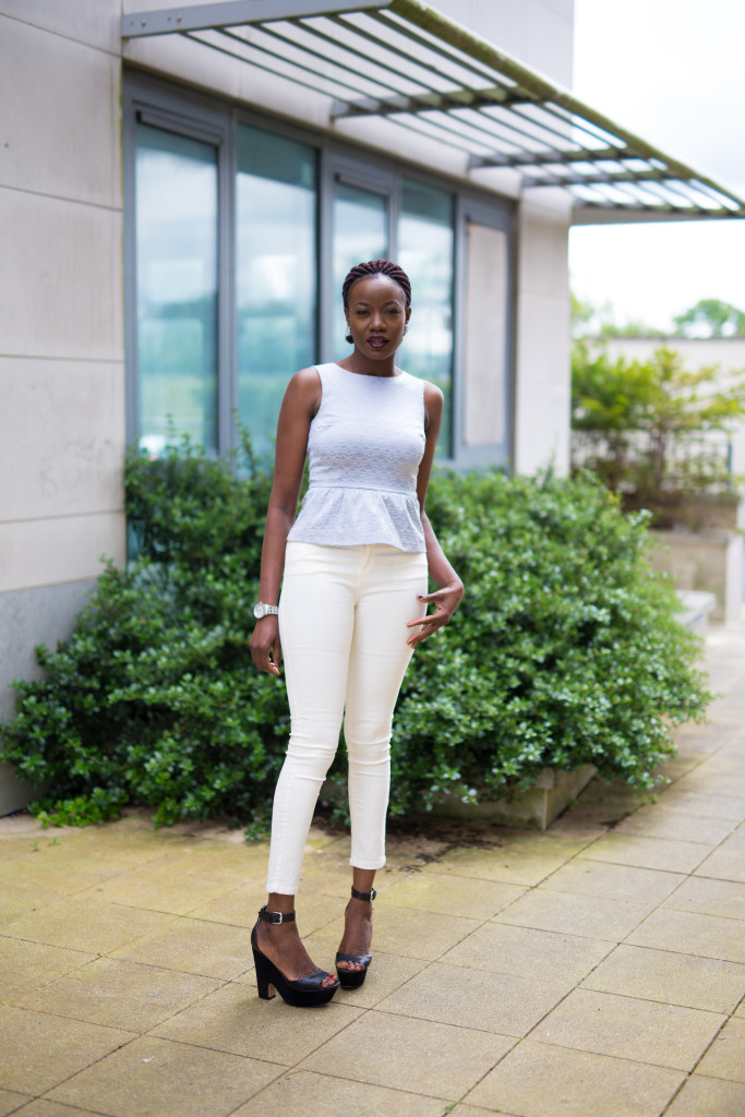 Jeans and Peplum top