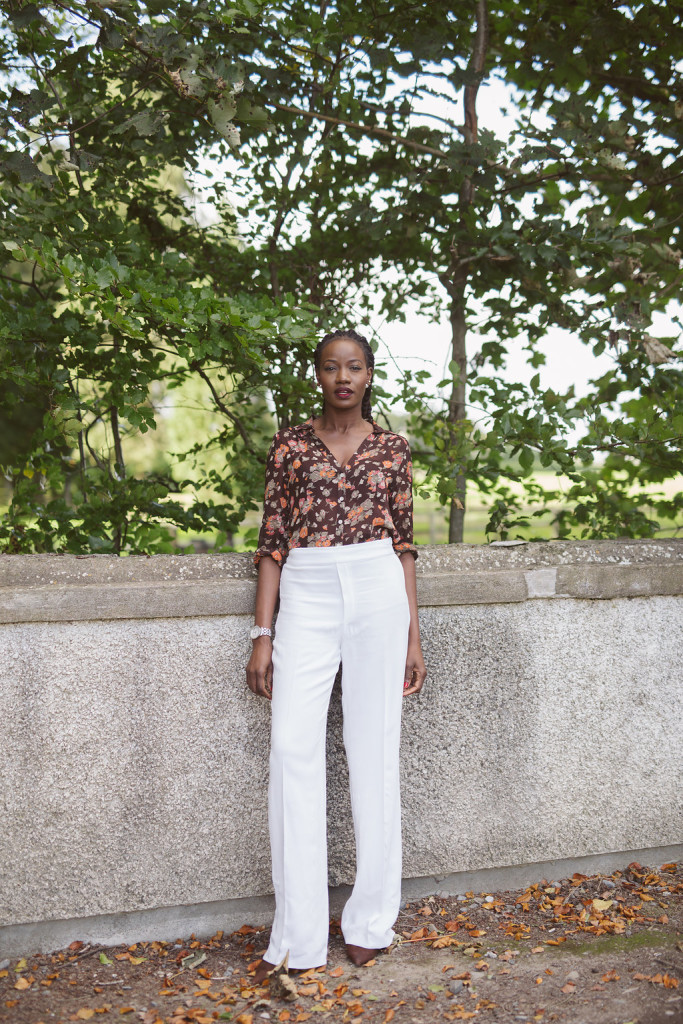 FLORAL BLOUSE AND WIDE LEG TROUSERS