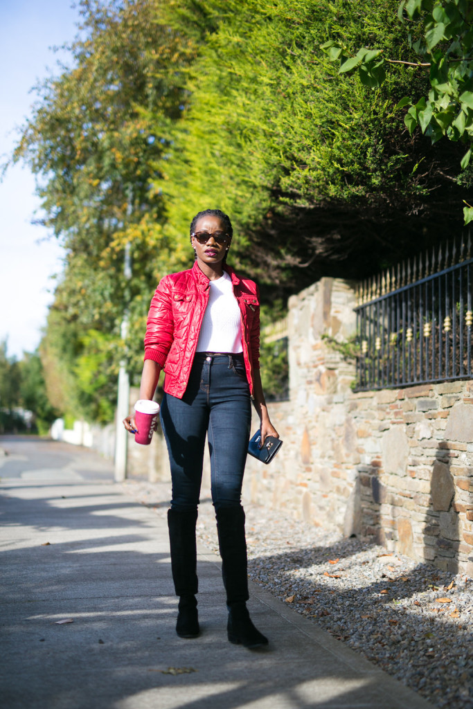 BOMBER JACKET AND JEANS IMAGE