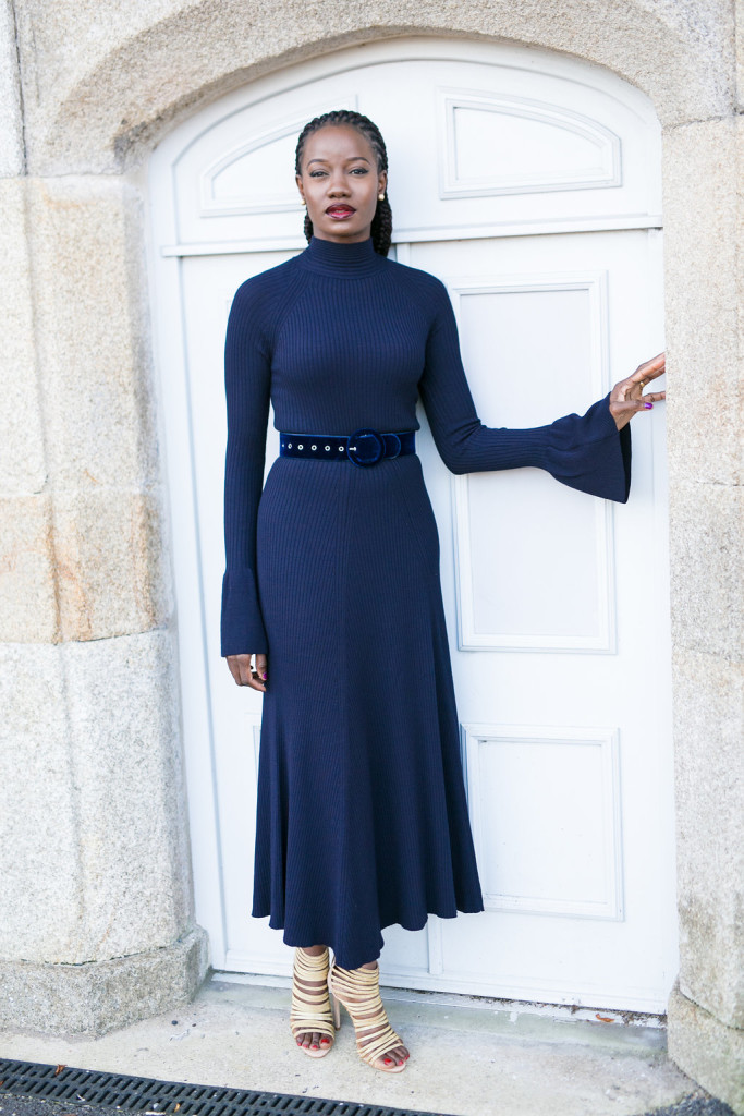BELL SLEEVES MIDI DRESS IMAGE