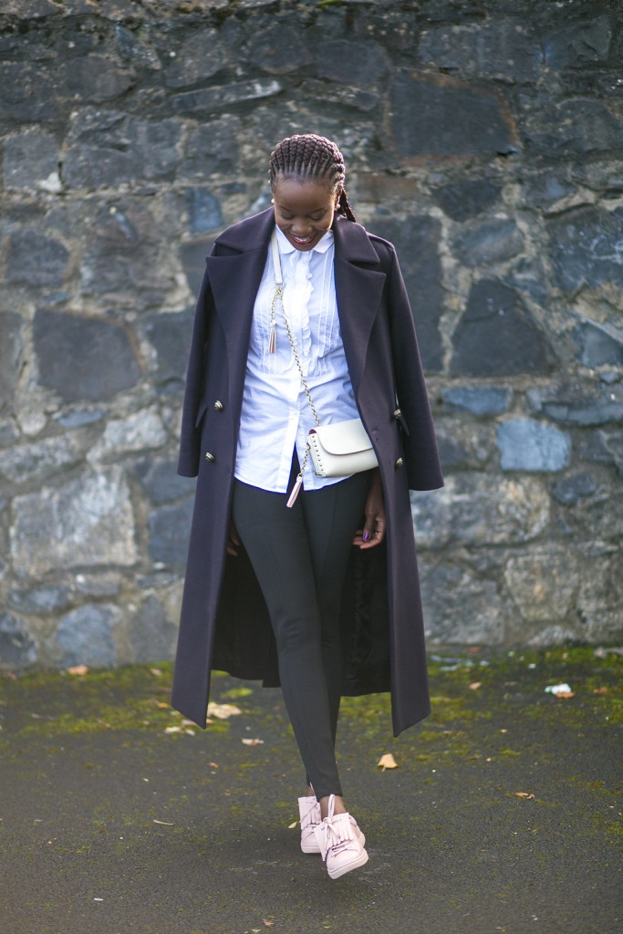 CASUAL CHIC IN MILITARY STYLE COAT IMAGE