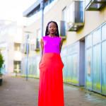 ISSA COLOUR BLOCK DRESS